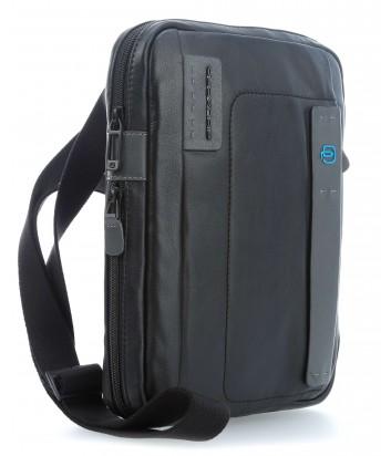 Кожаная сумка через плечо Piquadro Pulse CA3228P15 черная