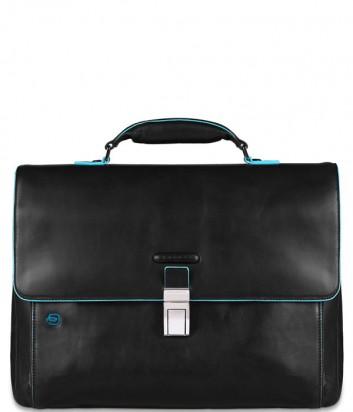 Кожаный портфель Piquadro Blue Square CA3111B2 черный