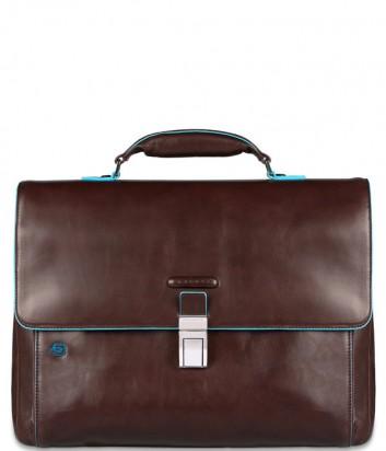 Кожаный портфель Piquadro Blue Square CA3111B2 коричневый