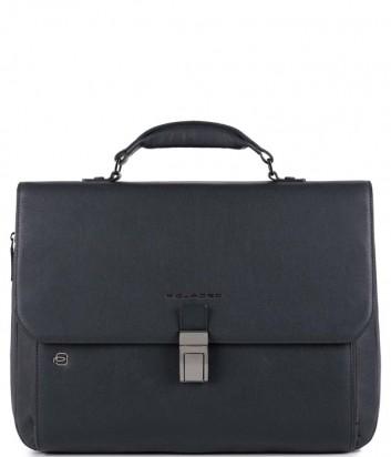 Кожаный портфель Piquadro Black Square CA3111B3 синий