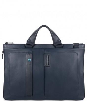 Мужская кожаная сумка Piquadro Pulse CA4021P15 синяя