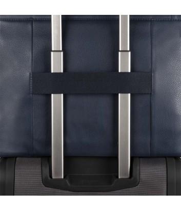 Мужская кожаная сумка Piquadro Pulse CA4021P15 черная