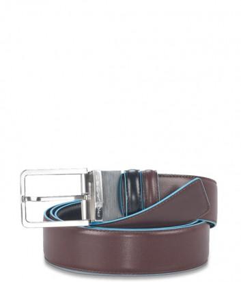 Кожаный мужской ремень Piquadro Blue Square CU2619B2 коричневый