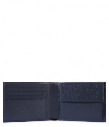 Кожаное портмоне Piquadro Modus PU257MO с отделением для монет синее