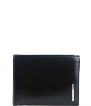 Кожаное портмоне Piquadro Blue Square PU257B2R с отделением для монет черное