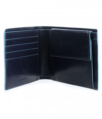 Кожаное портмоне Piquadro Blue Square PU257B2R с отделением для монет синее