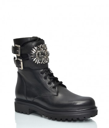 Черные ботинки H'oro Nero 106 с декором черные
