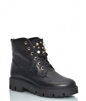 Черные ботинки Helena Soretti 5010 с декором