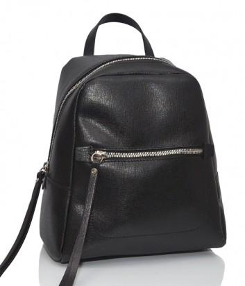 Рюкзак из сафьяновой кожи Gianni Chiarini 9249 с одним отделом черный