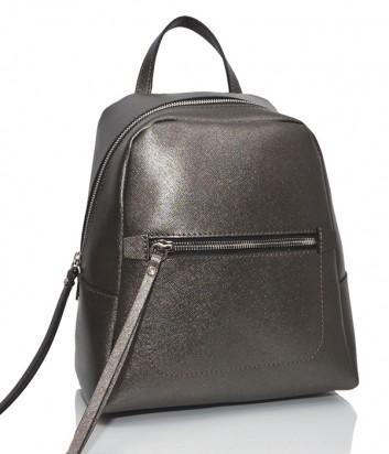 Рюкзак из сафьяновой кожи Gianni Chiarini 9249 с одним отделом графитовый