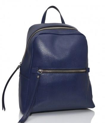Рюкзак из сафьяновой кожи Gianni Chiarini 9230 с одним отделом темно-синий