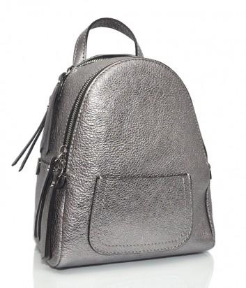 Серебристый рюкзак Gianni Chiarini 6633 из блестящей кожи