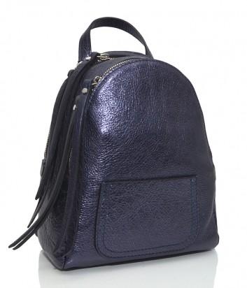 Синий рюкзак Gianni Chiarini 6633 из блестящей кожи