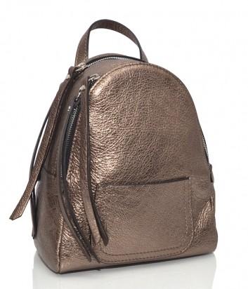 Бронзовый рюкзак Gianni Chiarini 6633 из блестящей кожи