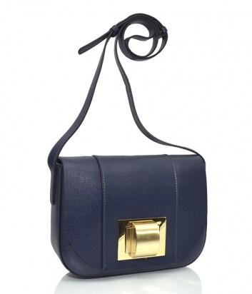 f2267390b1b3 Кожаная сумка через плечо Gianni Chiarini 6541 темно-синяя - купить ...