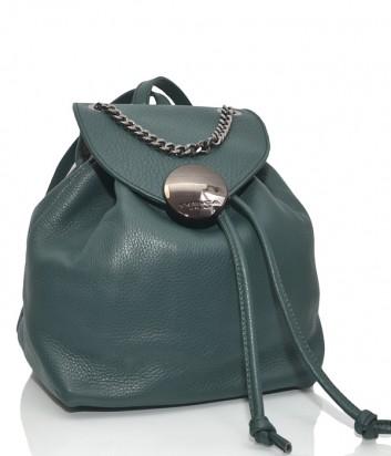 Кожаный рюкзак Tosca Blu 132 с ручкой цепочкой зеленый