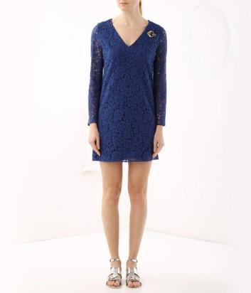 Синее мини-платье ICEBERG из цветочного кружева