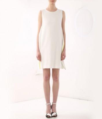 Белое мини-платье ICEBERG с контрастной оборкой на спине и по бокам