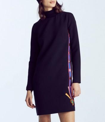 Черное трикотажное платье ICEBERG с яркой аппликацией