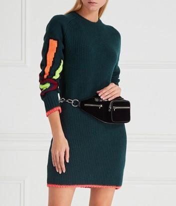 Трикотажное платье ICEBERG с яркой вышивкой на рукаве