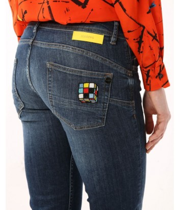 Женские джинсы ICEBERG с аппликацией в виде Рубика на кармане