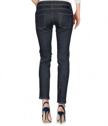 Женские джинсы ICEBERG синие с яркой аппликацией