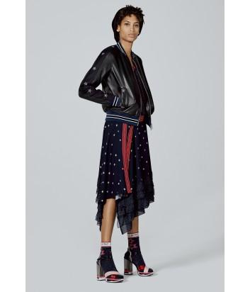 Женская кожаная куртка ICEBERG со звездами на рукавах