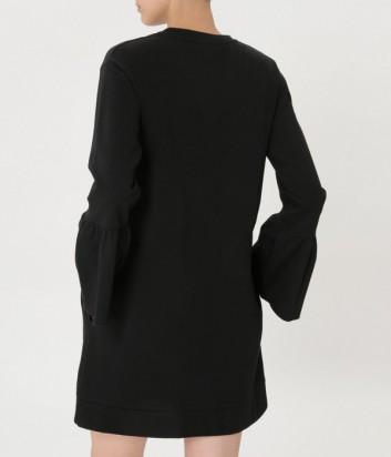 Черное платье ICE PLAY с расклешенным рукавом