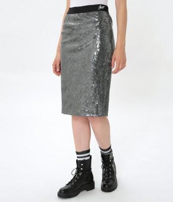 Серебристая юбка ICE PLAY декорированная пайетками
