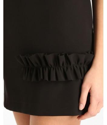 Черное мини-платье ICE PLAY с рюшем