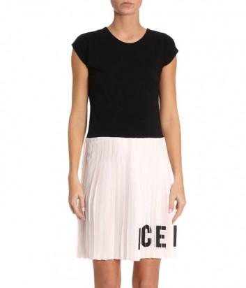 Комбинированное платье ICE PLAY с юбкой гофре