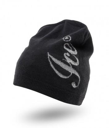 Женская шапка ICE PLAY с люрексом и логотипом черная
