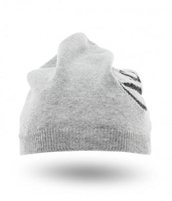 Женская шапка ICE PLAY с люрексом и логотипом серая