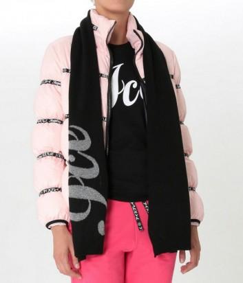 Черный шарф ICE PLAY с люрексом и логотипом