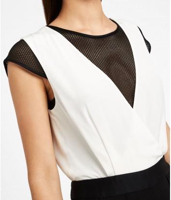 Женский комбинезон Karl Lagerfeld с имитацией белой блузы и черных брюк
