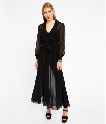 Черное полупрозрачное платье Karl Lagerfeld внутри комбинезон