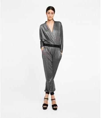 Серебристый комбинезон Karl Lagerfeld с эластичным поясом
