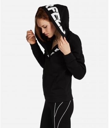 Свитшот Karl Lagerfeld с надписью-логотипом на воротнике и капюшоне
