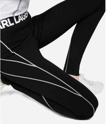 Черные леггинсы Karl Lagerfeld с контрастными строчками