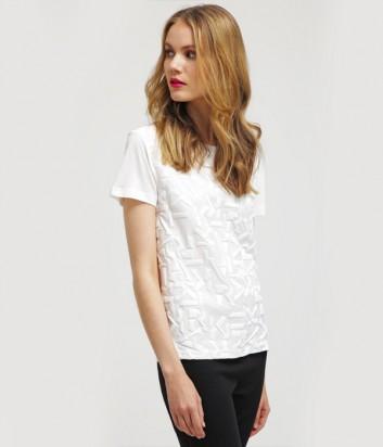 Белая футболка Karl Lagerfeld с тиснением бренда
