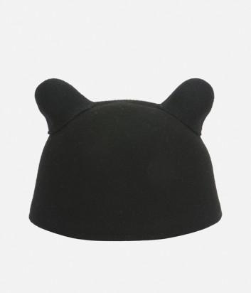 Женская кепка Karl Lagerfeld с кошачьими ушками черная