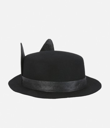 Черная женская шляпа Karl Lagerfeld с ушками