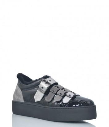 Лаковые туфли Tine's 6295 с мехом внутри
