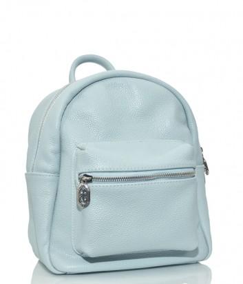 Кожаный рюкзак Sara Burglar 160 с внешним карманом голубой