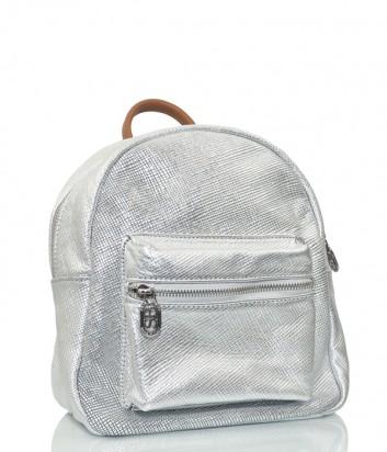 Кожаный рюкзак Sara Burglar 160 с внешним карманом серебристый