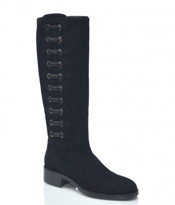 Замшевые сапоги Vittorio Virgili 8402 черные