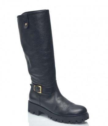 Кожаные сапоги Baldinini 8131 черные