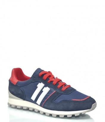 Замшевые кроссовки Dirk Bikkembergs 9441 синие