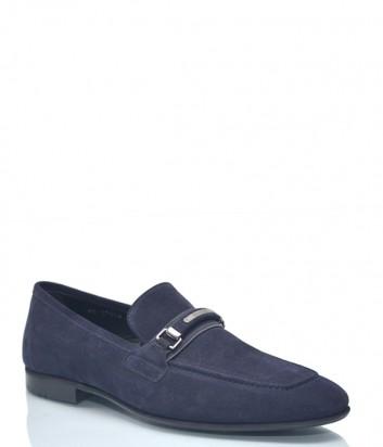 Замшевые туфли Roberto Serpentini 9428 темно-синие