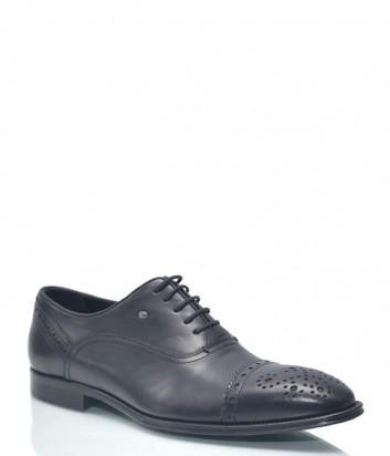 Кожаные туфли Roberto Serpentini 9424 с перфорацией черные